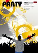 Concert. Vector illustartion Stock Illustration