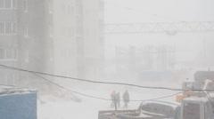 Heavy snowfall Stock Footage