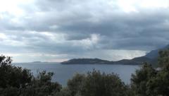 Thunderstorm clouds tilt up Stock Footage