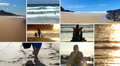 People in various situations on the beach Footage