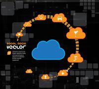 Social media concept. Vector - stock illustration