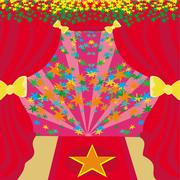 movie star symbol on a red carpet representing hollywood premier grand openin - stock illustration