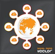 Stock Illustration of Social media concept. Vector