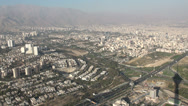 Stock Video Footage of Tehran, view from Milad Tower towards Alborz mountains