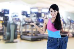 success of weight loss - stock photo