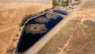 Wastewater - aerial shot Stock Footage
