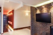 Spacious apartment - interior Stock Photos