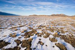winter tundra desert landscape great basin area western usa - stock photo
