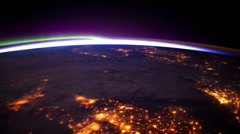 Europelights iss 20120402HighRes Stock Footage