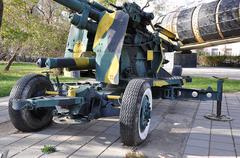 100 mm  zenithal gun ks 19  parts - stock photo