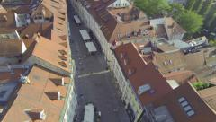AERIAL: Above the streets Stock Footage