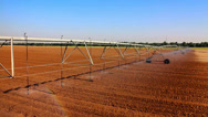 Agriculture sprinklers Stock Footage