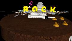Rock Title Sequence:  Version #2 - stock footage