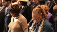 Stock Video Footage of african/american congregation holding hands and praying