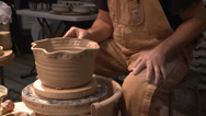 Stock Video Footage of Pottery clay art working wheel creating ceramic artwork HD high definition 1080