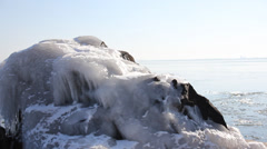Duluth Winter Ice Lake 1 Stock Footage