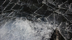 Duluth Winter Ice Lake 10 Stock Footage
