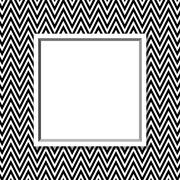 black and white chevron frame with frame background - stock illustration