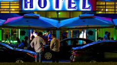 Miami Beach Hotel - stock footage