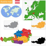 Austria ma - stock illustration