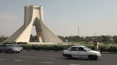 Azadi Tower in Tehran, Iran Stock Footage