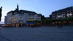 Burgplatz in Dusseldorf, Germany Stock Footage