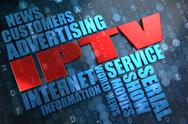 Stock Illustration of IPTV. Wordcloud Concept.