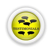 Testimonials icon Stock Illustration