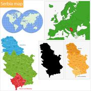 Stock Illustration of Serbia map