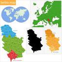 Serbia map Stock Illustration
