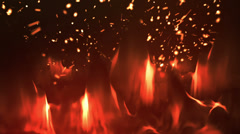 Fire background. fire background. The edges are seamless and tileable. This make Stock Footage