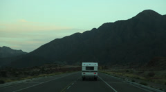 Following Motor Home on Andes Mountain Highway Stock Video Stock Footage