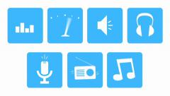 100 Animated Flat Loop Icons Stock After Effects