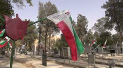 Tehran, war memorial site, cemetery of victims of Iran - Iraq war Stock Footage
