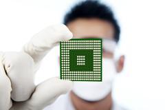 Lähikuva mikrosiru tietokone Kuvituskuvat