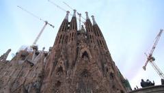 Sagrada Familia, Panoramic Shoot Stock Footage