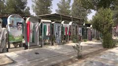 Iran war memorial cemetery soldiers victims fallen heroes Tehran Stock Footage