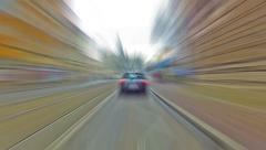 Ride in  a car, Krakow, Poland Stock Footage