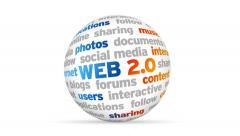 Web 2.0 Word Sphere Stock Footage