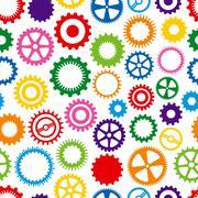 Colorful cog background Stock Illustration