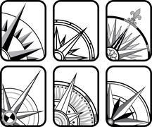 Kompassi kuvakkeet Piirros