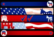 Stock Illustration of Election web banners