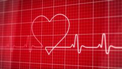 EKG electrocardiogram heart concept - stock footage
