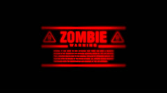 Zombie Alert Going on and Off Stock Footage