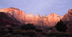 Sunrise high mountain buttes zion national park desert southwest Stock Photos