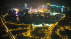 Aerial time lapse of Macau from the Macau Tower Stock Footage