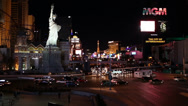 Stock Video Footage of Las Vegas Casinos by Night