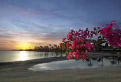 evening, early morning on the red sea. - stock photo
