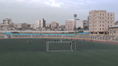Tehran, soccer or football practice at pitch, Iran popular sport Stock Footage