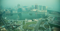 4K sunset time lapse of Macau from the Macau Tower Stock Footage
